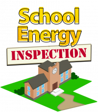 School Energy Inspection illustration of school on lawn
