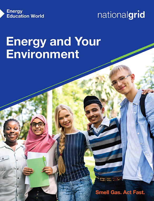 Energy and Your Environment book cover diverse group of students looking at camera with arms around each other