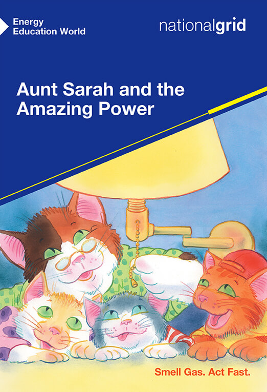 Aunt Sarah and the Amazing Power book cover illustrated group of cats lying under a light