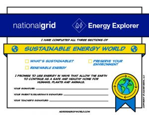 Sustainable Energy World certificate