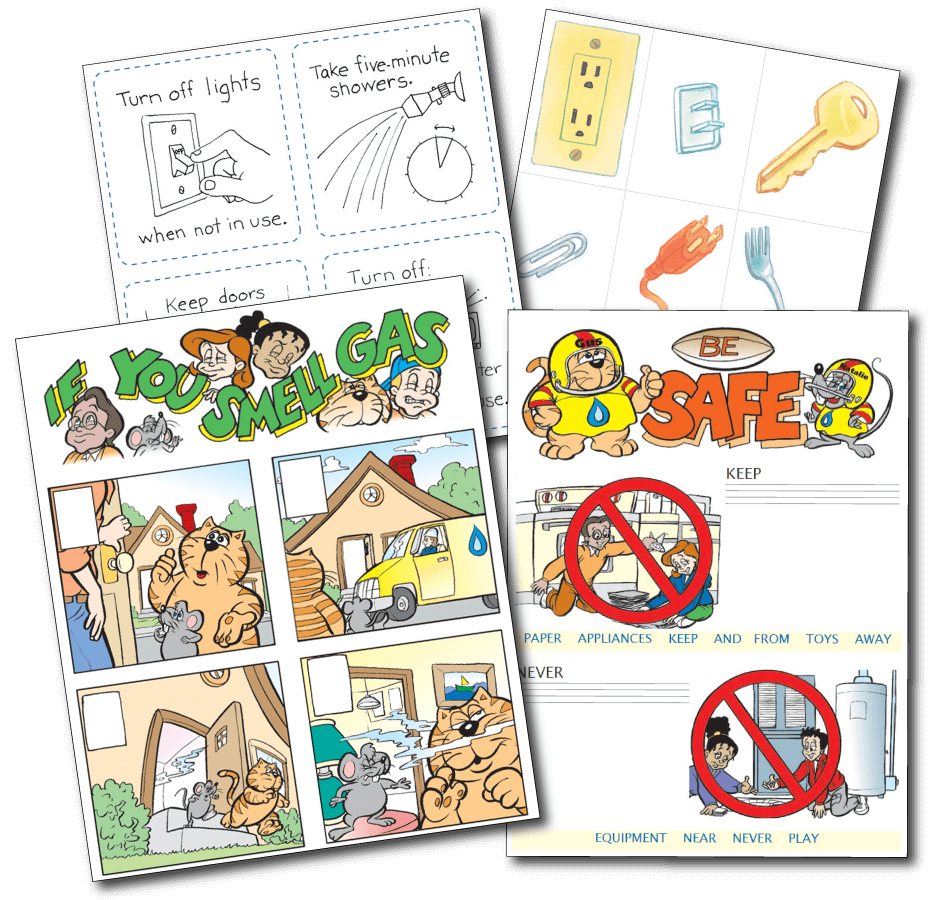 Downloadable activity sheets