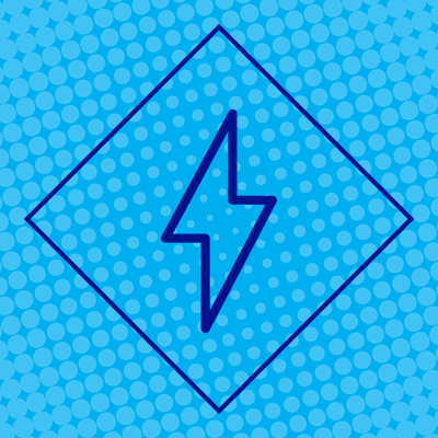 NGrid Electricity icon blue diamond outlining lightning bolt