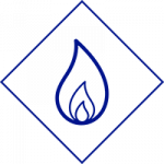 NGrid Gas icon blue diamond outlining gas flame